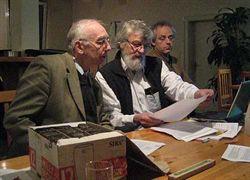 H. Röders, W. Reithmeier und A. Röders (v. l.) bei der Gründungsversammlung des Soltauer Erfinderclubs